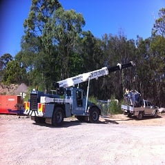 12-15T Franna-crane on job site