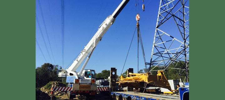 35T All Terrain Crane lifting Object